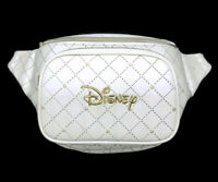 Loungefly Disney Gold Embellished Quilted Fanny Pack Zip Pockets Adjustable NEW