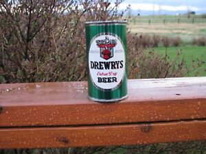Nice Crisp DREWEYS Green Sports Scene Flat Top Beer Can