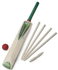 CHILDRENS KIDS SIZE 3 CRICKET SET BAT BALL STUMPS & BAILS GARDEN BEACH TY3803