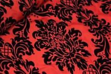 Tessuti e stoffe rossi modello Floreale per hobby creativi al metro
