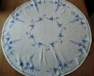 Blaudruck Tischdecke Miitteldecke Alt Luxemburg 80 cm  Durchmesser