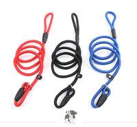 Puppy Soft Strong Nylon Slip Rope Walking Training Dog Collar Strap Leash Lead
