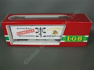 LGB G 4070 Anheuser Busch Budweiser Beer Reefer Refrigerator Billboard Boxcar NR