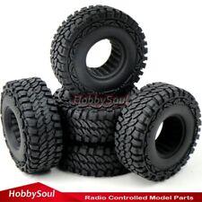 "US Shipping 5pcs RC 1/10 Crawler Mud Tire Tyre 115mm Fit 1.9"" Beadlock Rim Wheel"