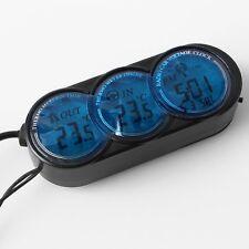 Car Cigarette Lighter LED Digital Dual 2 Thermometer ℃ Alarm Clock Gauge Sets
