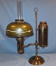 "All original 10"" Miller student Oil Lamp Art Glass Tiffany Shade"