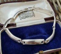 Sterling Silver Bracelet, Chunky Baguette Links, Full UK Hallmarks,17.87gr