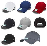 New Era Plain 9forty Adjustable Curve Peak Hat Cap Black Navy Royal Grey etc