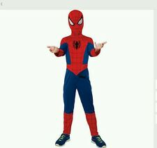 Ultimate Spiderman Movie Spider-Man Jumpsuit Super Hero Child Boys Costume NEW