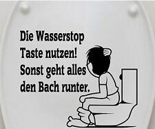Aufkleber WC Deckel, Toiletten, Klo Sticker, Bad, Wandtattoo Spruch, 3C001