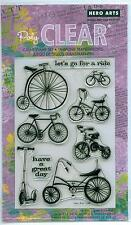 Hero Arts clear stamp set Let'S Go For A Ride Bicycles, Transportation
