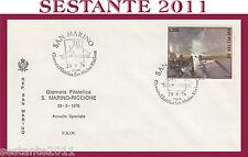 SAN MARINO FDC FAIP F.A.I.P. GIORNATA FILATELICA MOLO RICCIONE VIOLA 1976 (305)