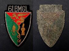 Insigne Légion Etrang.Tissu 61° BMGL BATAILLON MIXTE GENIE LEGION Extreme Orient
