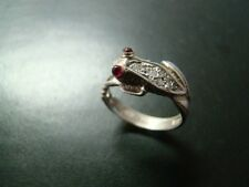 Adorable Sterling SIlver and 14k gold frog ring with genuine diamonds and rubies
