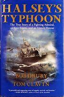 "BOB DRURY ""HALSEY'S TYPHOON"" SIGNED  Book By Author 1st Edition  LIKE-NEW / COA"