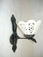 Appliques Lampada da parete in ferro battuto e ceramica