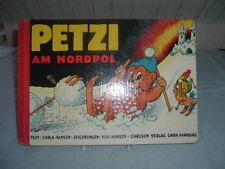 Petzi al Polo Nord, Carla e vil. Hansen, Carlsen Verlag Hard Cover per 1955