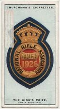 Rifle Shooting H.M. The King's Prize 1920s Ad Trade Card