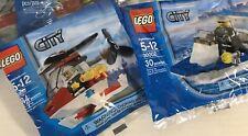 LEGO CITY SET - #30002 POLICE BOAT & #4900 MINI COPTER NEW IN BAG