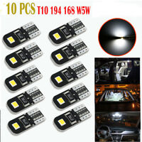 10 x Canbus T10 194 168 W5W 2825 LED SMD White Car Side Wedge Light Lamp Bulb