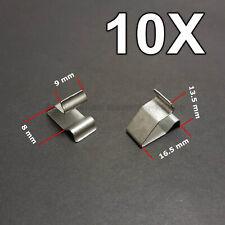 10X Blech Klemme Metall Halteklammern Steckklammer für Audi, VW, Skoda, Seat