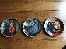3 Norman Rockwell Collectable Plates