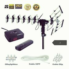 FiveStar Best Outdoor HD TV Antenna Up to 200 Miles Long Range w/ Motorized. New
