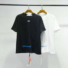 ed754c9b1b5d OFF-WHITE 18ss Graffiti Print Men s Short Sleeves T Shirt Tee Cotton Unisex  Tops