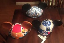 3 Disney Mickey Ears Hats Star Wars R2-D2, Toy Story Woody, 45th Anniversary