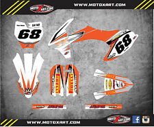 Custom graphics for KTM 50 2016 - 2018 model SHOCKWAVE STYLE full sticker kit