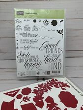 Stampin Up! Lovely Friends Bundle Retired Stamp Set and Steel Dies