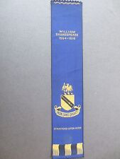 Vintage BOOKMARK Woven Silk Franklins WILLIAM SHAKESPEARE 1564 - 1616 Stratford