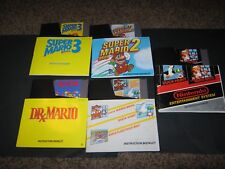 MARIOI LOT OF 5 GAMES ALL W/MANUAL & SLEEVE NES CLEAN PINS GR8T LABELS CLEAN HQ