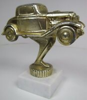 Hot Rod Race Car Desk Shelf Art Paperweight Vintage Auto Derby Racing Trophy