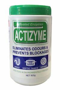 Actizyme Pellets 900g Eliminates Odours And Prevents Blockages Drain Cleaner