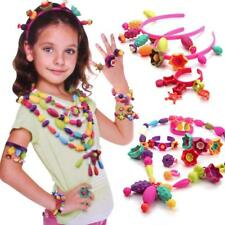 3 Packs Pop Snap Beads Pearl Diy Building Blocks Jewelry Accessories Toys 75pcs