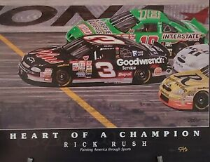 "Rick Rush's Fine Art ""Dale Earnhardt Heart of a Champion"""
