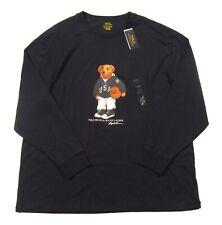 Polo Ralph Lauren Big & Tall Men's Navy Basketball Bear Long Sleeve T-Shirt