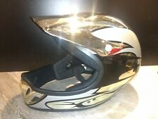 Kids Med 5 & Older Apache Full Face MTB Mountain Bike/BMX helmet Silver/Black