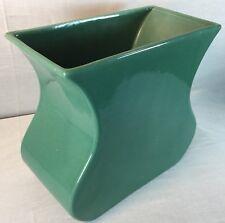 Vtg Haeger Pottery Vase Green Glaze Rectangle Heavy Mid Century Rare