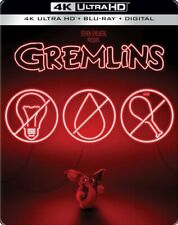 GREMLINS (U.S. EXCLUSIVE STEELBOOK 4K Ultra HD +Blu-ray +Digital) NEW