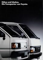 Toyota HiAce LiteAce Prospekt 1986 6/86 Autoprospekt brochure broschyr brosjyre