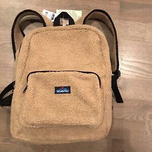 KAVU Sherpa Fleece Driftwood zip around backpack with outside zipper pocket $60