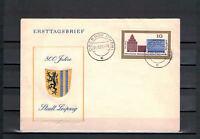 """DDR FDC """"800 Jahre Stadt Leipzig"""" MiNr. 1126 TSt Oberhof, Thüringen 26.08.1965"""