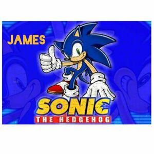 80 Pieces A5 Jigsaw Puzzle - Lockdown Kids Game - Sonic  Personalised