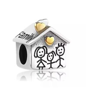 PANDORA Fitting Home Charm 925 Stamped Silver Charm