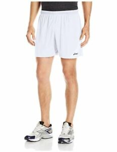 ASICS Men's Break Through Performance Short, White, 3X-Large
