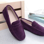 Womens Casual Flats Suede Leather Shoes Loafers Driving Lady Peas Lazy Moccasins