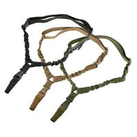 Tactical Single Point Bungee Rifle Gun Sling Strap With Quick Release Buckle New