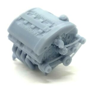 Resin Ford Ecoboost Engine Custom Motor Diecast for Model Kits 1:32-1:8 Scale